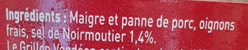 Grillon Vendéen - Ingrédients - fr