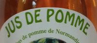 Jus de pomme de Normandie - Ingredients