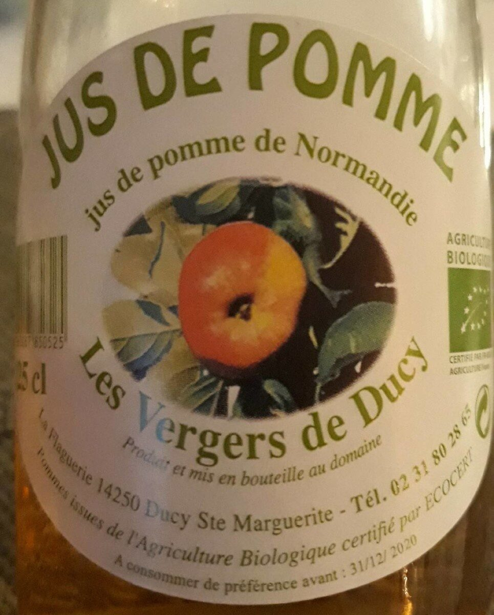 Jus de pomme de Normandie - Nutrition facts