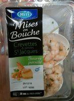 Mises en Bouche Crevettes & Petites St Jacques Beurre Persillé - Produit