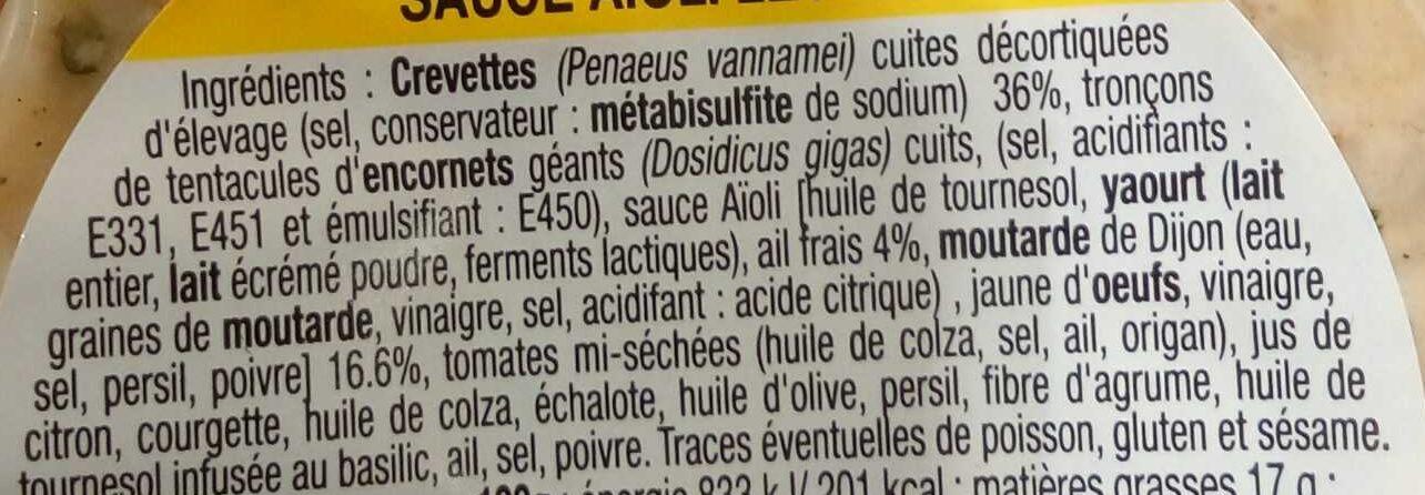 Émietté de Crevettes - Sauce Aïoli Légère - Ingredients - fr
