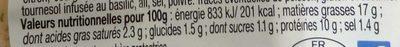 Émietté de Crevettes - Sauce Aïoli Légère - Nutrition facts - fr