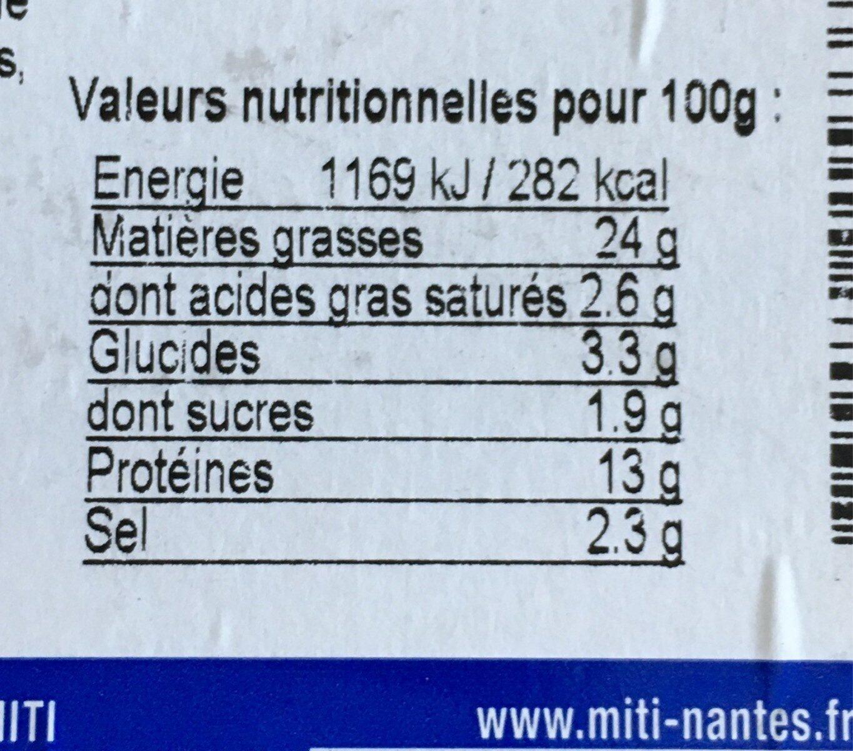 Brochettes de crevettes sauce ail et persil - Nutrition facts
