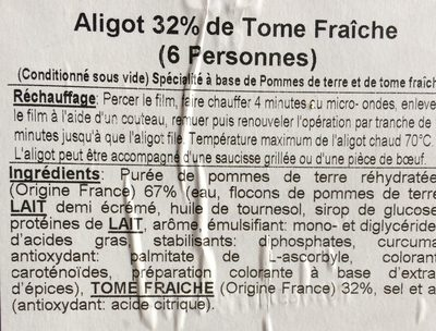 Aligot - Ingrédients - fr
