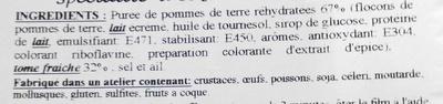 Aligot - Ingrediënten - fr