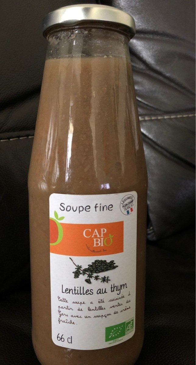 Soupe fine de Lentilles au Thym - Product - fr