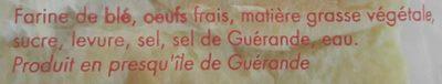 Brioche Bonnin 490 g - Ingrédients - fr