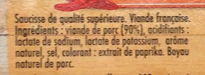 Brats, Saveur Épicée - Ingrédients