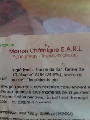 Céréales marron-chataîgnes - Ingredients - fr