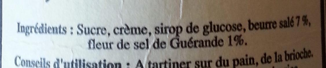 Breizh® Karamel - Ingrédients