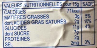 Le Caramelier - Nutrition facts