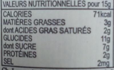 Breizh Karamel - Voedingswaarden - fr