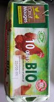 10 Oeufs bio moyens L'OEUF DES MAUGES - Product