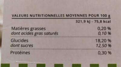 Velouté des Pyrénées à la pomme - Informations nutritionnelles - fr