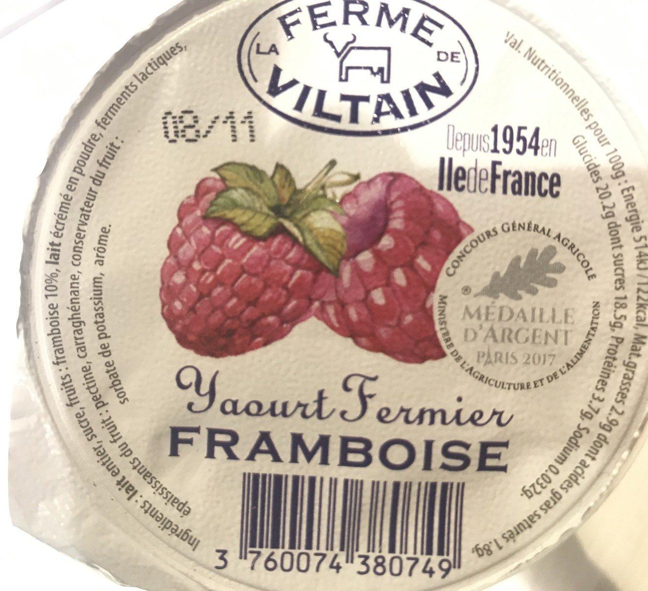 Yaourt fermier sur lit de framboise - Ingredients