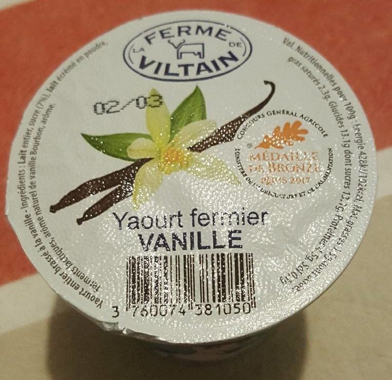 Yaourt fermier vanille - Product