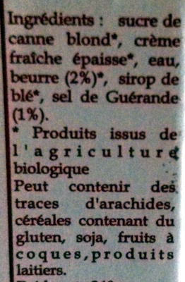 Onctueux de Caramel au Beurre Salé au Sel de Guérande - Ingrédients - fr