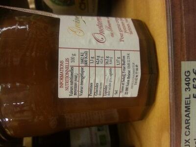 Onctueux de Caramel au Beurre salé au sel de Guérande - Nutrition facts - fr