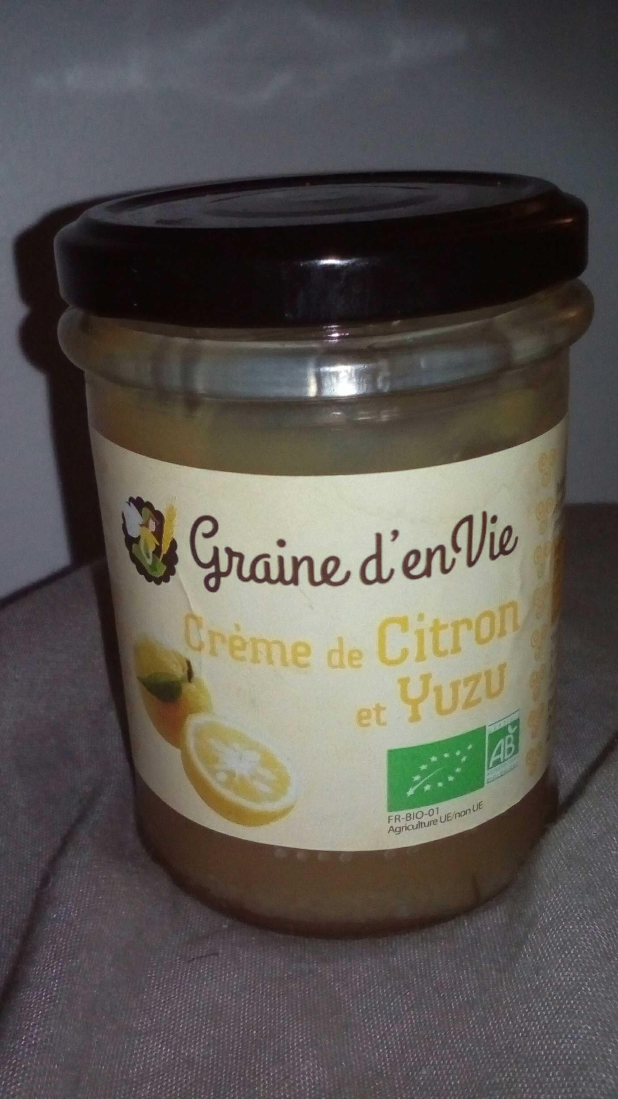 Crème de citron et Yuzu - Graine d'envie - 220 g