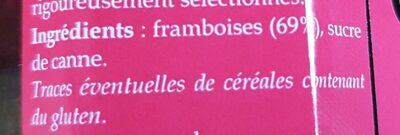 Confibreizh Framboises - Ingrediënten - fr