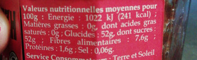 Confibreizh Framboises - Voedingswaarden - fr