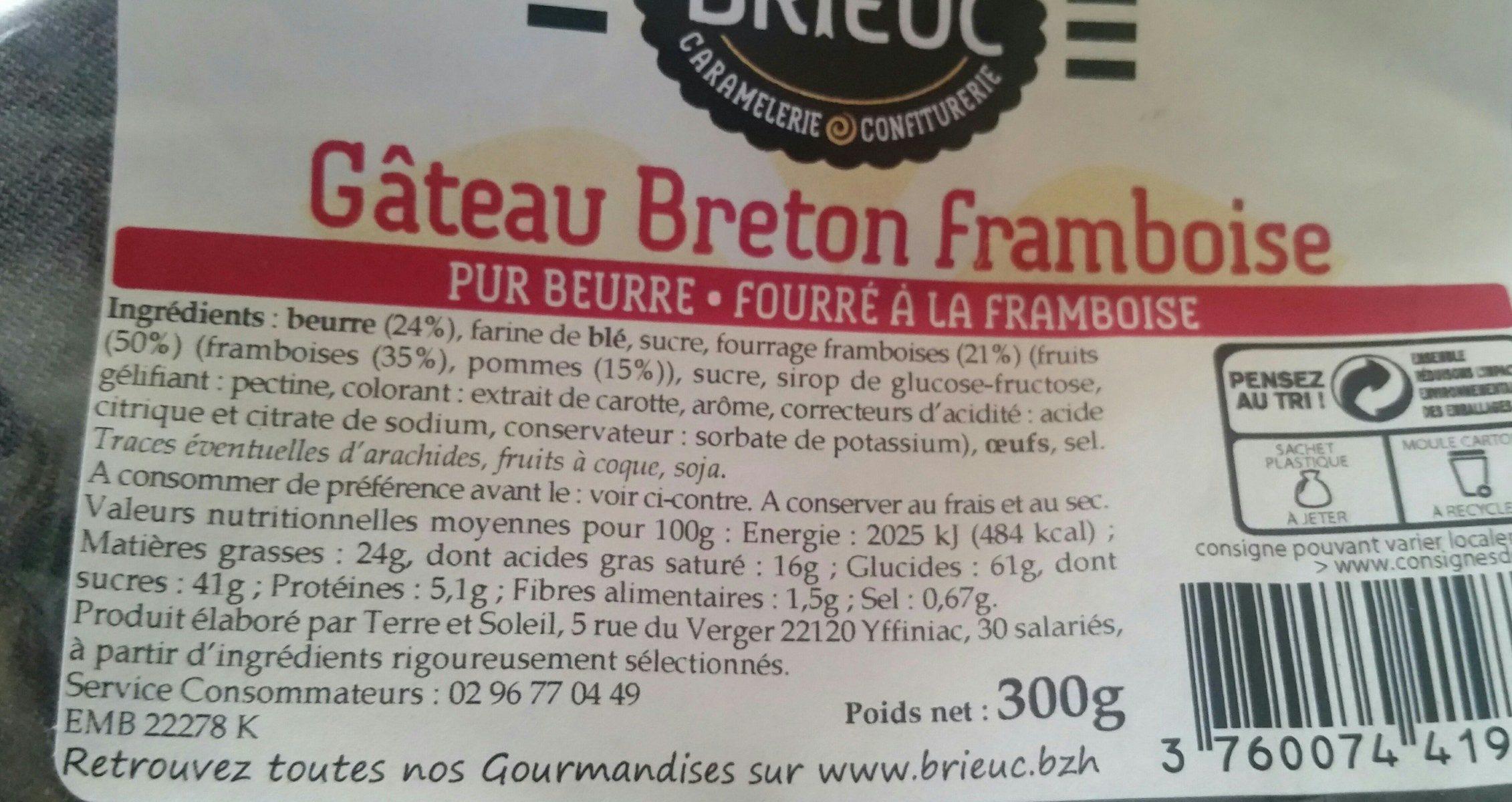 Gâteau Breton Framboise - Produit - fr
