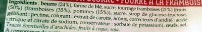 Gâteau Breton Framboise - Ingrédients - fr