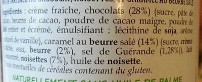 Pâte à tartiner Bretonne au chocolat et aux noisette - Ingredienti - fr