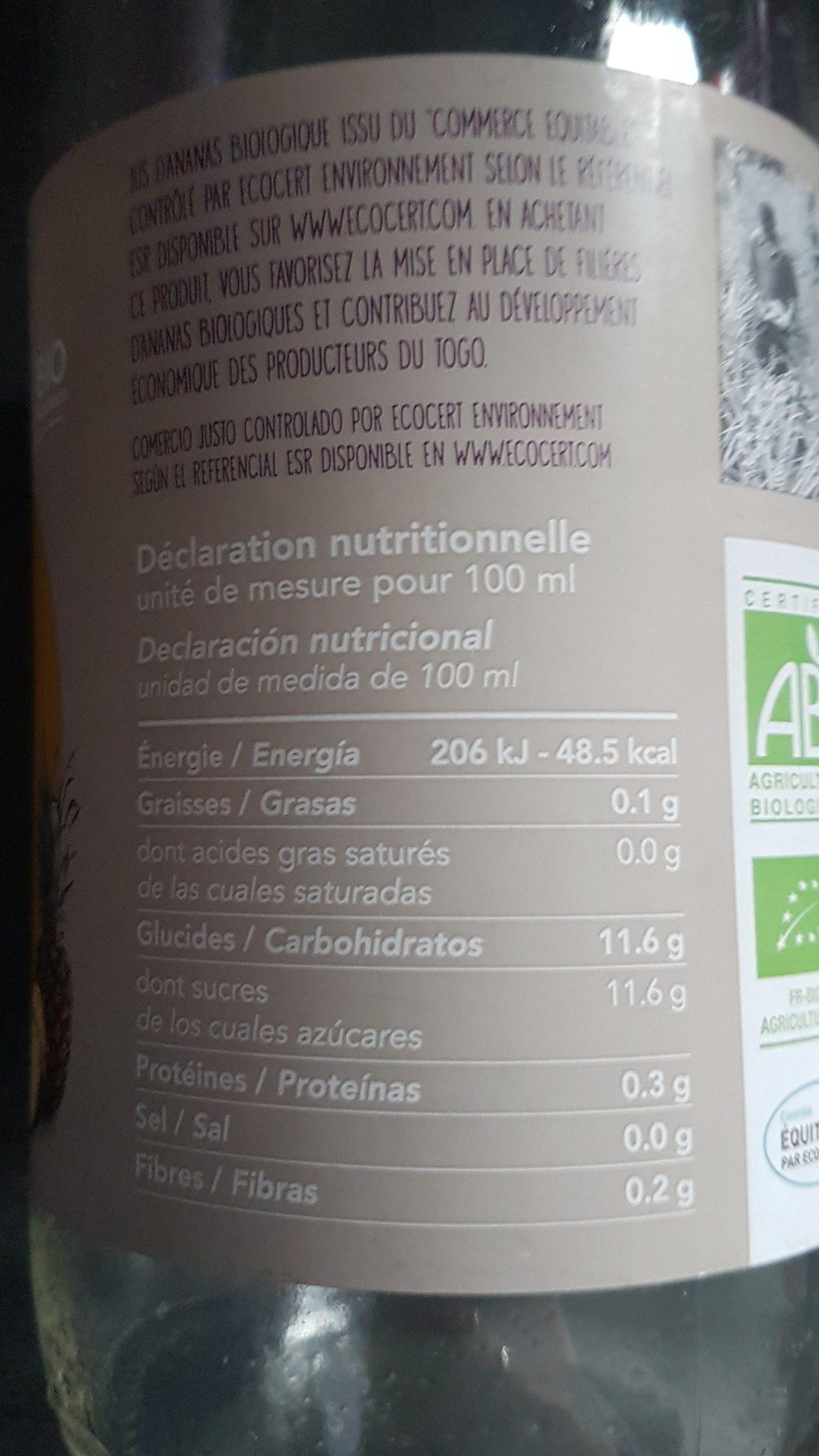 Jus d'ananas - Ingredienti - fr
