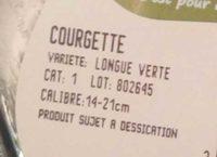 Courgettes - Cat. I - Ingrediënten - fr