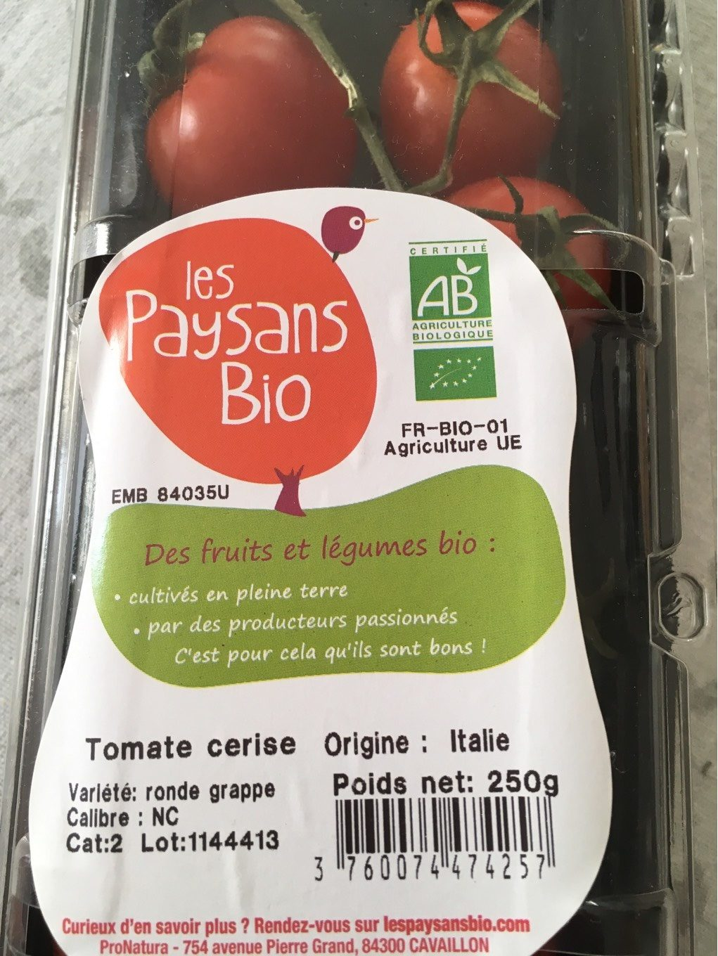 Tomates cerises rondes grappes - Product - fr