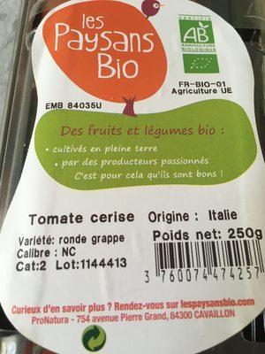 Tomates cerises rondes grappes - Ingrédients - fr