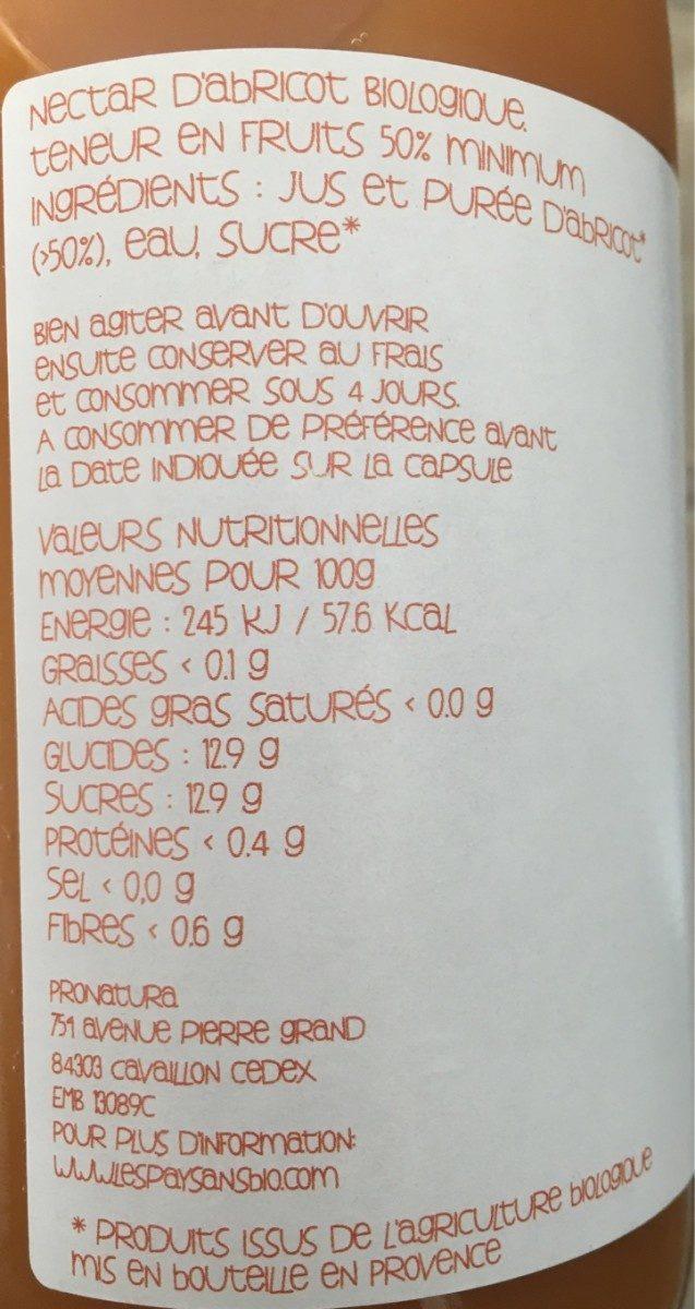 Abricot de Provence - Ingredienti - fr