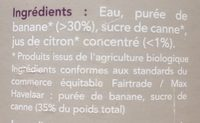 Nectar De Banane - Ingredienti - fr