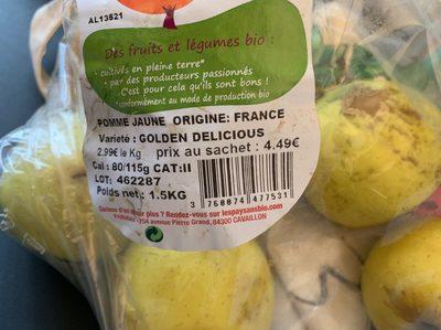 Pommes jaunes - Ingrediënten - fr