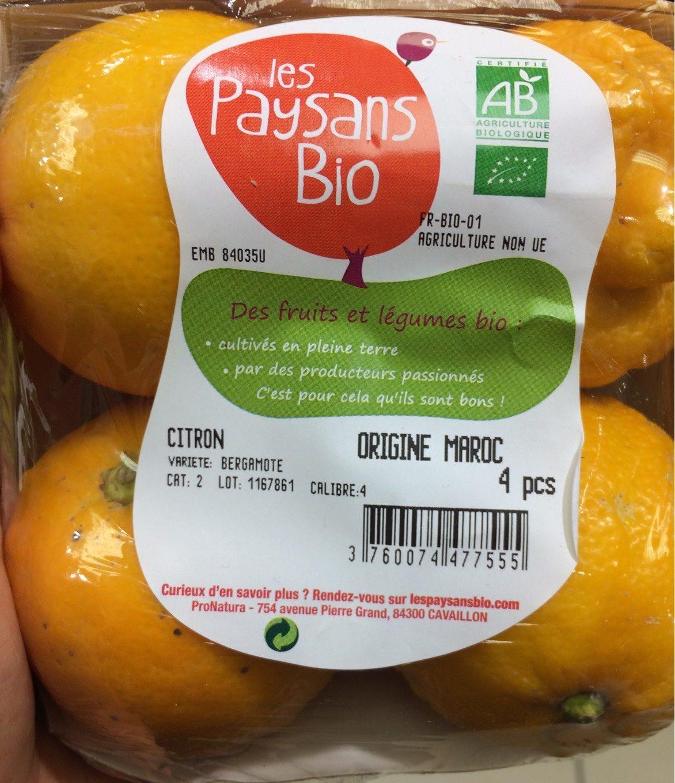 Citron bergamote - Product - fr