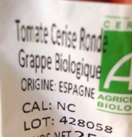 Tomate Cerise Ronde Grappe Biologique - Ingrédients - fr
