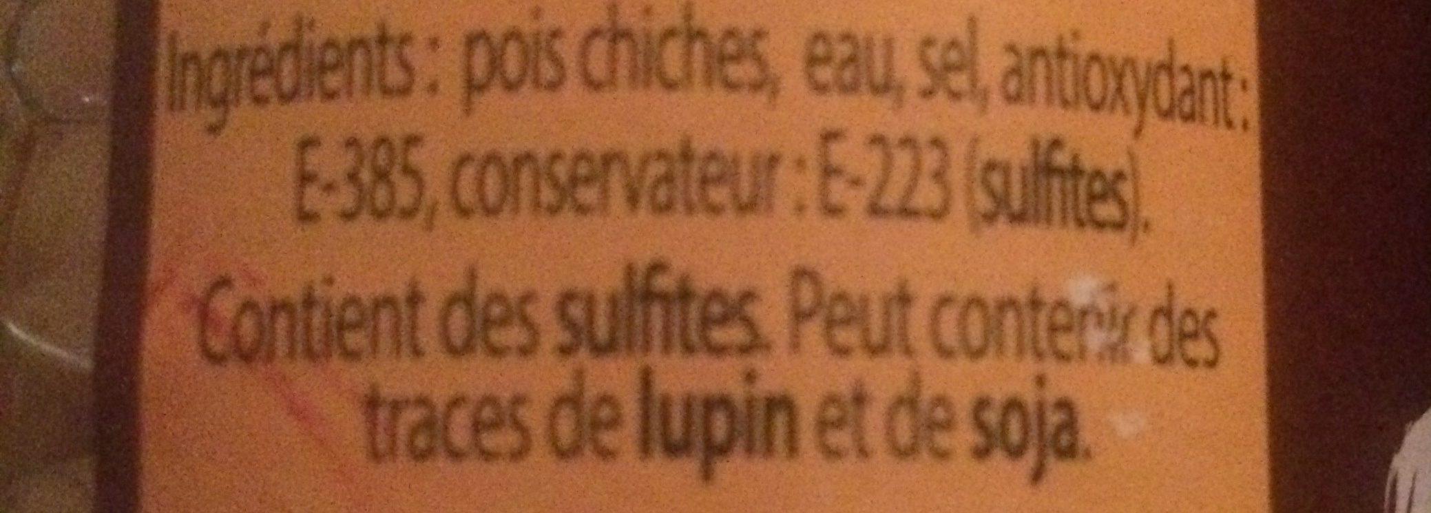 Pois Chiches - Ingrediënten