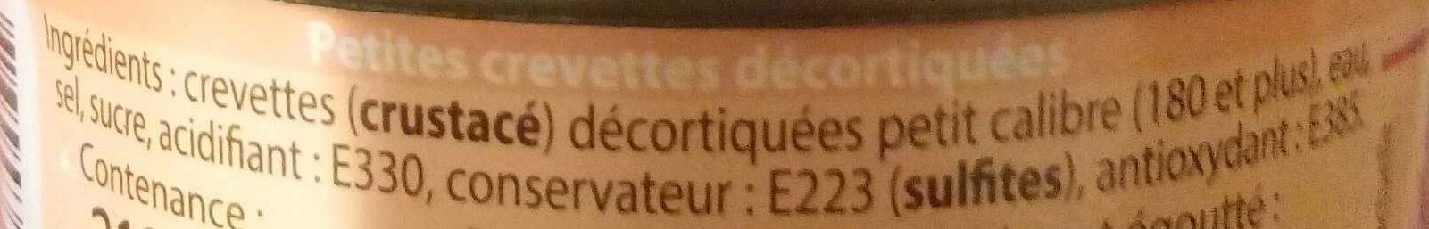 Crevettes Picnic - Ingredients - fr