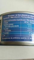 Thon Albacore naturel - Ingredienti - fr