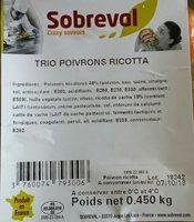 Trois poivrons ricotta - Ingredients - fr