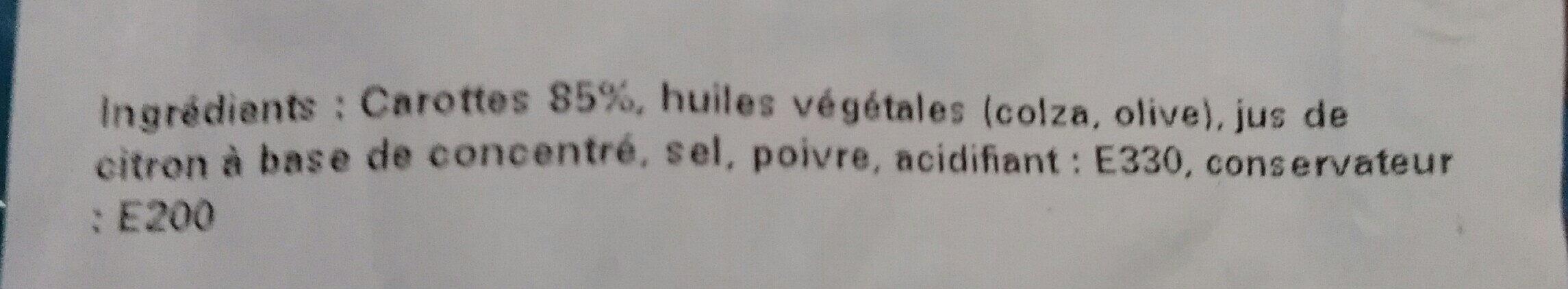 Tagliatelles de carottes ESV - Ingredients - fr