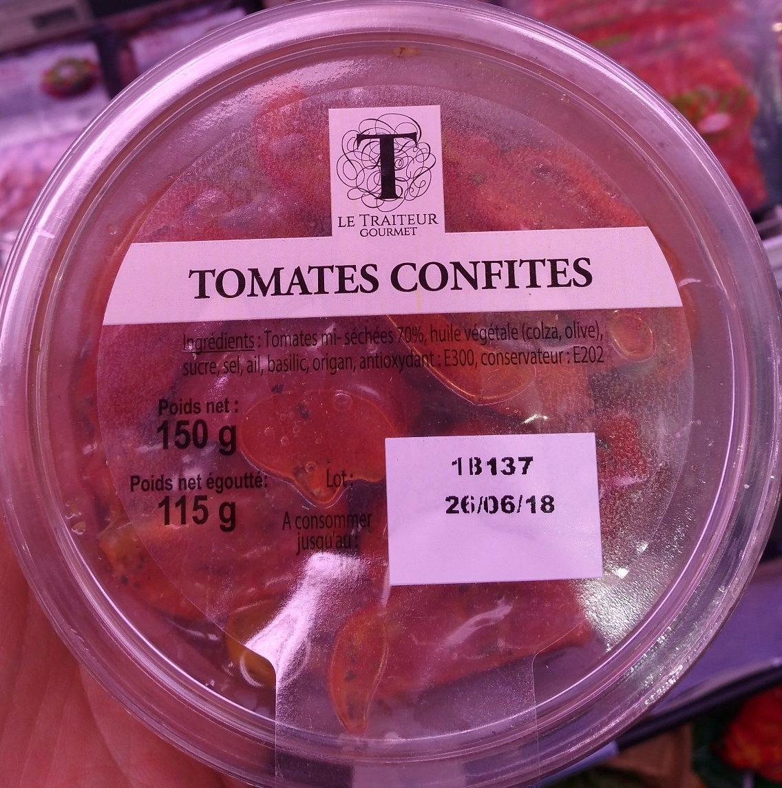 Tomates confites - Produit
