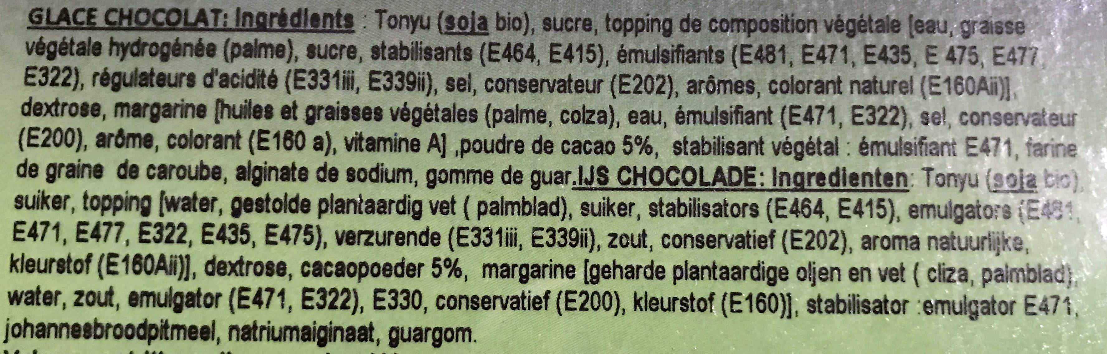 Glaces Chocolat - Ingrédients - fr