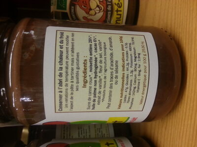 Pâte à tartiner sans lait Chokénut - Ingredients