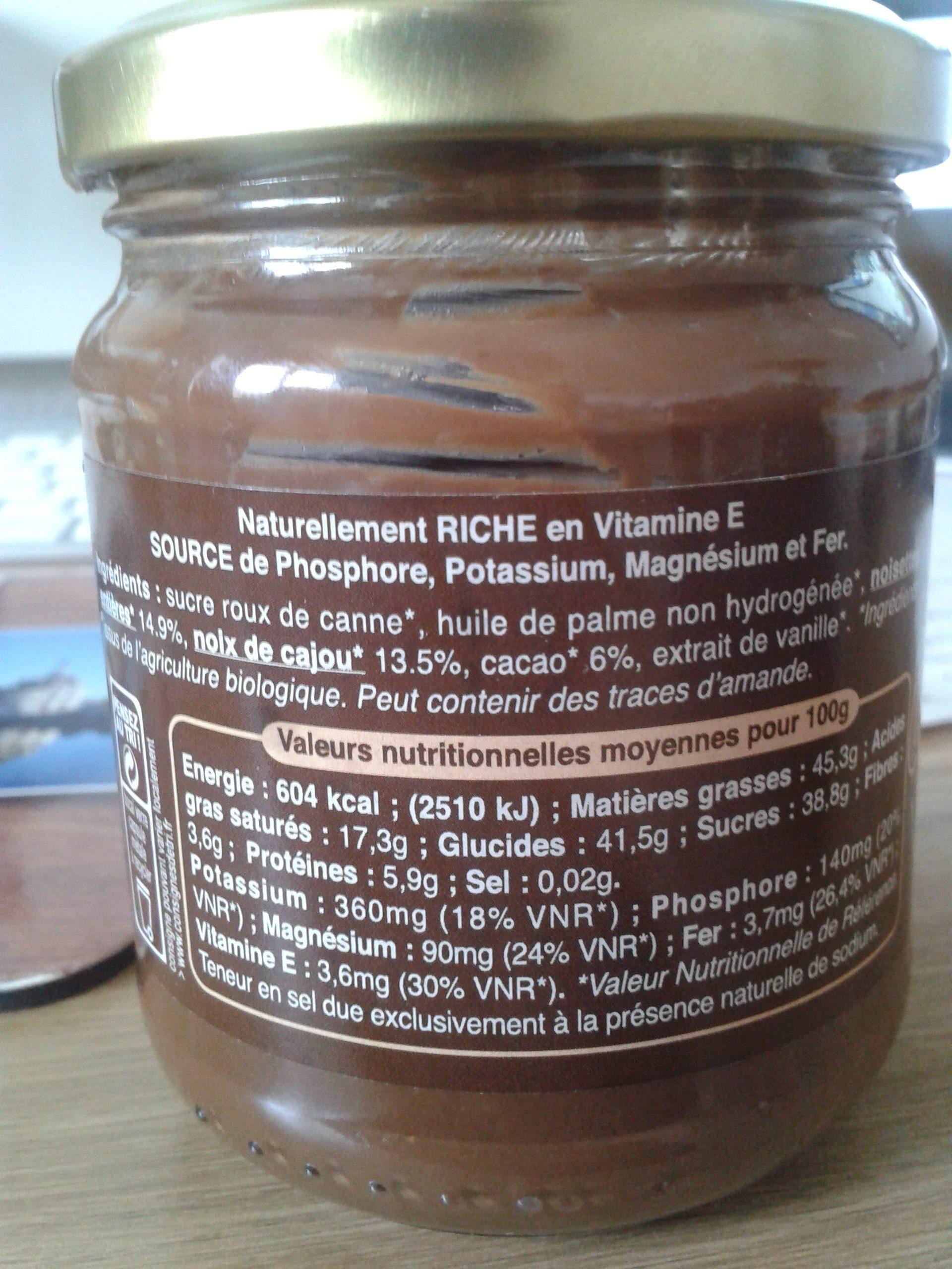 Chocolinette - Ingredientes