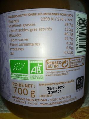 Choko linette Pâte à tartiner sans lait - Nutrition facts - fr