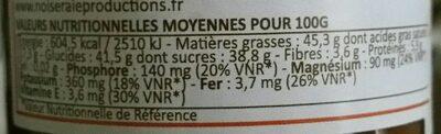 Choko noisette sans palme - Nutrition facts - fr