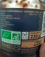 Pâte à tartiner Choko Noir - Informations nutritionnelles - fr