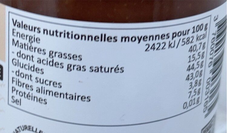 La croquante eclats d'amades - Valori nutrizionali - fr